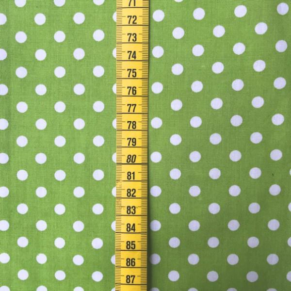 2 Größen Punkte: hellgrün-weiß